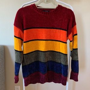 Forever21 Rainbow Chenille Sweater